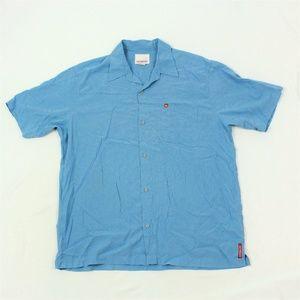 VTG Quicksilver Men's Button Up Camp Shirt Adult L